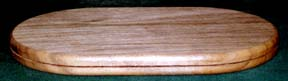 "6"" X 10"" Oblong Pine Base - Click Image to Close"