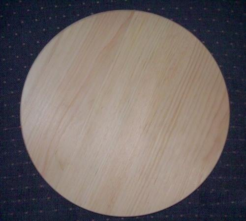 "12"" Clear Pine, Round Slotted Pine Base"