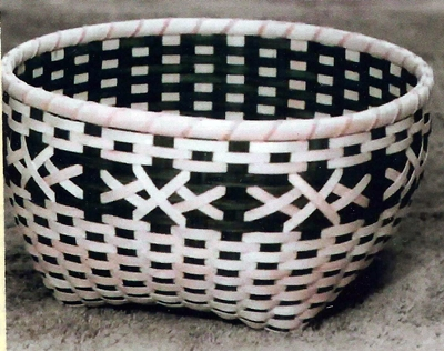 Crossed Stitches Basket Pattern, Double Wall Cathead.