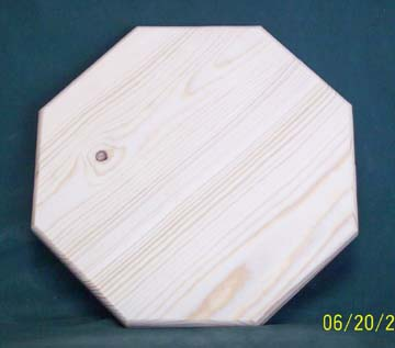 "10"" Octagon Sloted Pine"