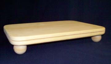 "8""x11"" Slotted Rectangle Pine Base w/ball feet"