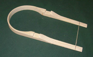 "4"" Ash Bushel Basket Handle"