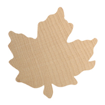 Maple Leaf Wooden Shape