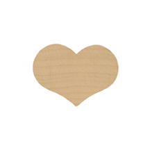 "Heart, Wooden Country Shaped 1 1/8"" x 1 9/16"""