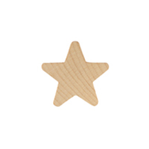 "Star - 1"" Wooden Shape"