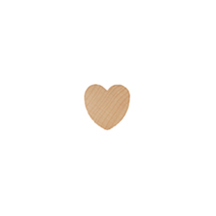"Heart, 1/2"" Standard Shaped Wooden"