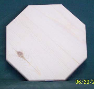 "8"" Octagon Pine Base - Click Image to Close"