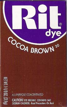 Rit Dye Powder Cocoa Brown Dye