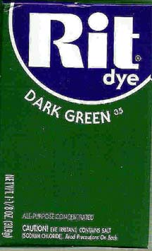 Rit Dye Powder Dark Green Dye