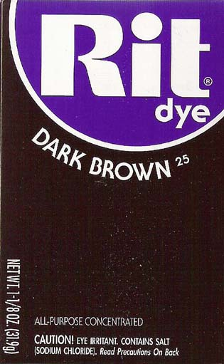 Rit Dye Powder Dark Brown Dye