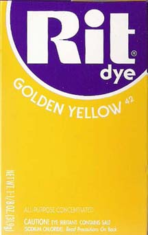 Rit Dye Powder Golden Yellow Dye