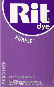 Rit Dye Powder Purple Dye - Click Image to Close