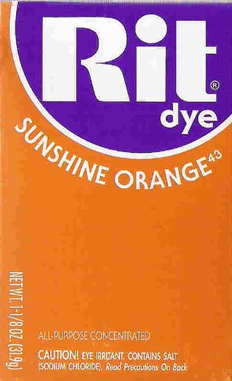 Rit Dye Powder Sunshine Orange Dye