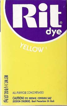 Rit Dye Powder Lemon Yellow Rit Dye - Click Image to Close