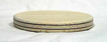 "8"" Round Pine Double Slotted Base"