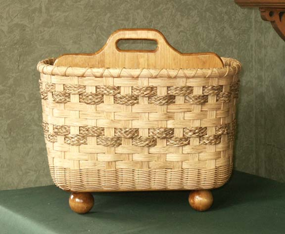 Big and Sturdy Divided Magazine Basket Pattern