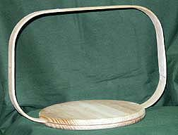 "8"" Round Pine Base W/8""X12"" Rectangle Hoop Handle"