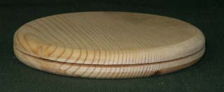 "5"" Round Slotted Pine Base - Click Image to Close"