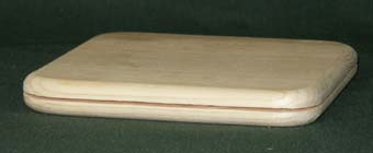"6"" Slotted Square Pine Base"