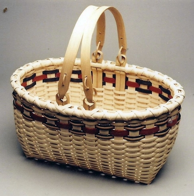 Harvest Basket With Swing Handles Pattern