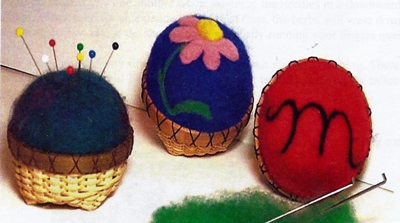 Needle Felted Pin Cushion Basket Pattern