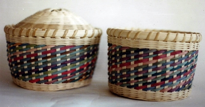 Rainbow Spiral Basket Pattern