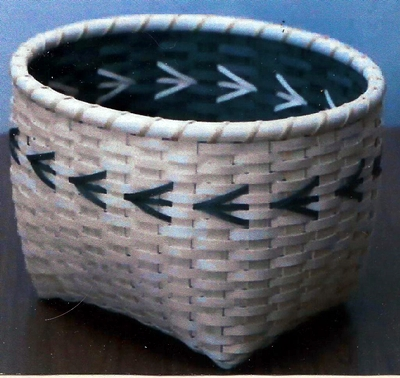 Reflections Basket Pattern, Double Wall Cathead.