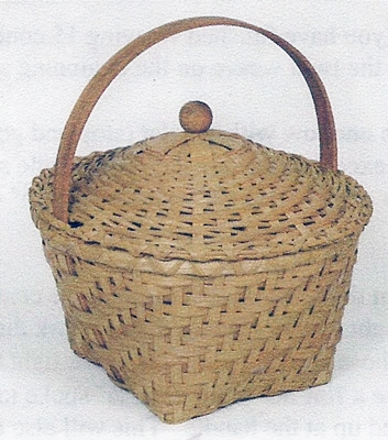 Totally Twilled Lidded Williamsburg Basket Pattern