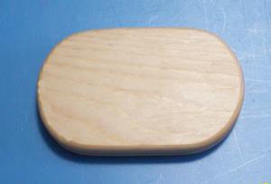 "2.5"" X 4"" x 3/4"" thick Oblong Pine Base - Click Image to Close"