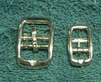 "Nickel Plated Double Bar Buckles (5/8"")"
