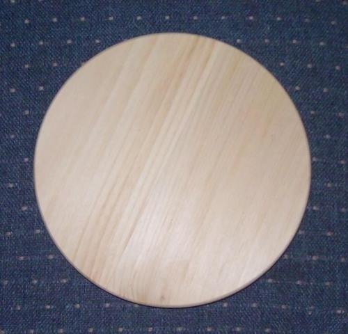 "8"" Clear Pine, Round slotted Base"