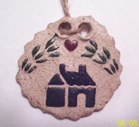 Heart Over House Medium Stoneware Disk