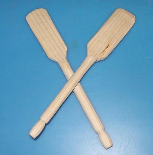 "Oars, pair of hand turned, 6.5"" 1"""