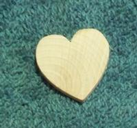 "Heart, 1"" Standard Shaped Wooden"